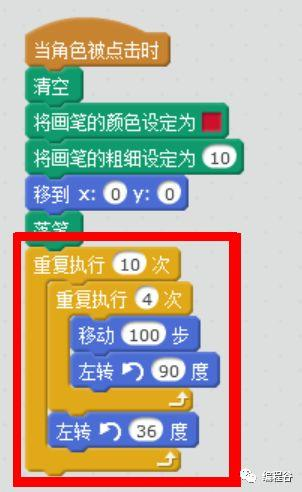 编程超人手把手教你学Scratch(4):画正方形