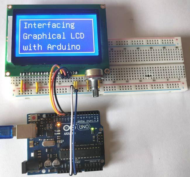 使用Arduino开发板连接图形点阵显示屏(ST7920)的方法