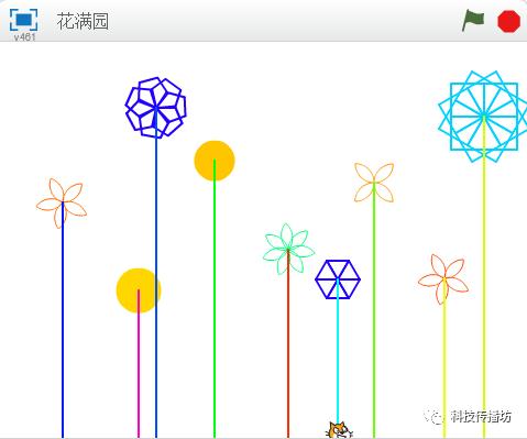 """Scratch艺术编程 5:""""花满园""""之再谈函数"""