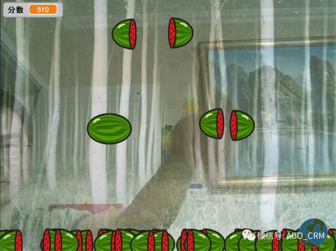 少儿编程Scratch第17讲:初试体感游戏-疯狂切西瓜