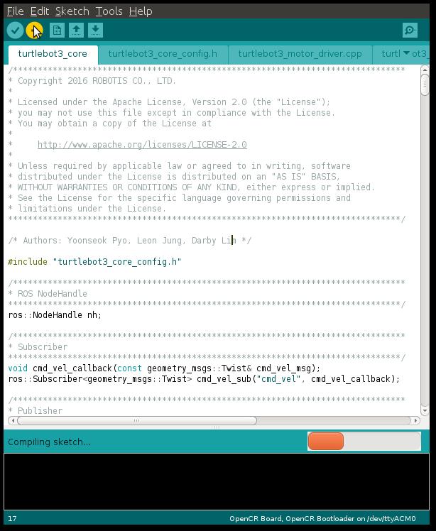 Turtlebot3-waffle_pi入门教程-OpenCR安装
