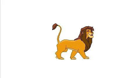 【Scratch教程】-[动画篇】-骄傲的狮王