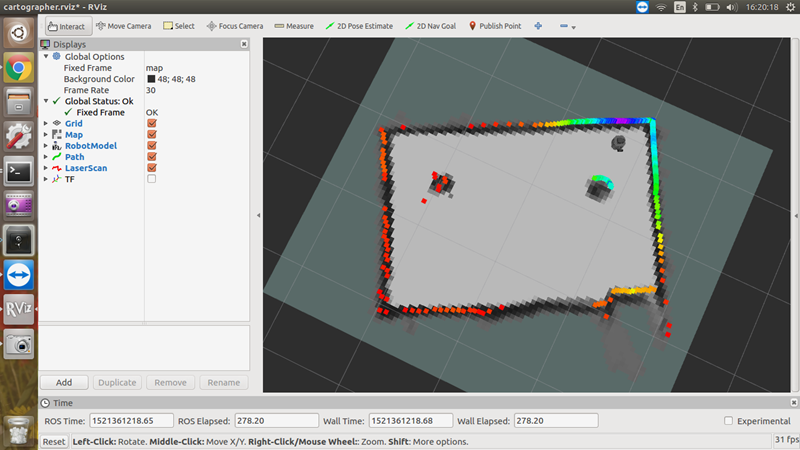 Turbot3入门教程-建图-cartographer建图