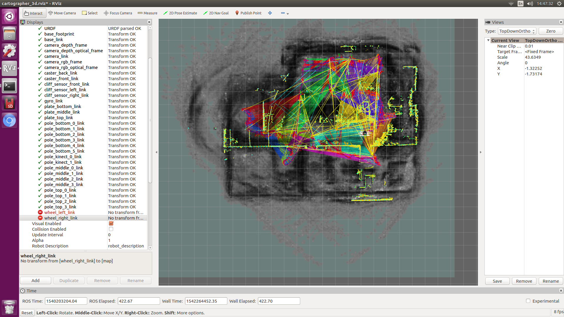 Turbot-SLAM入门教程-实现cartographer 3D建图(多线雷达rslidar-16版)