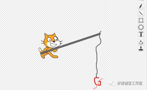 【一年级起点学编程】 第六讲 小猫钓鱼