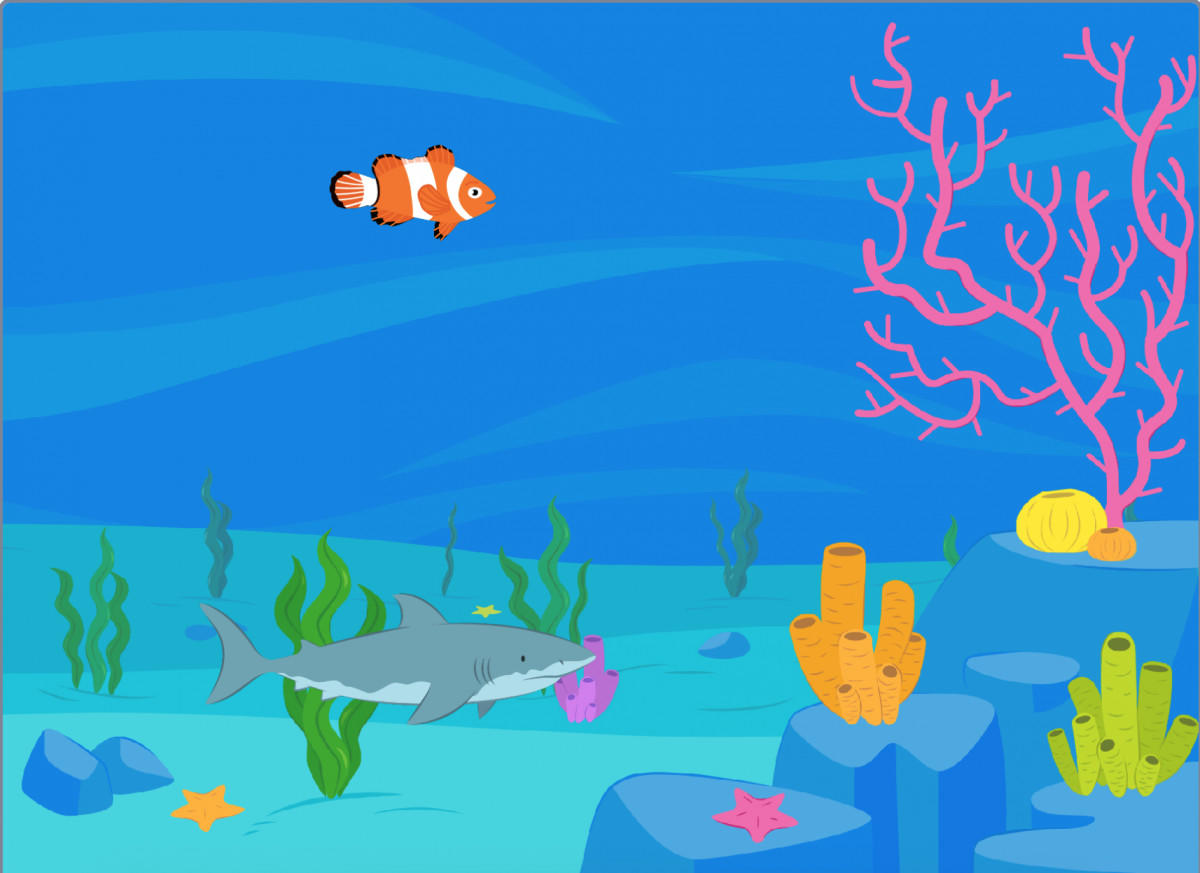跟我一起学编程—《Scratch编程》第4课:鲨鱼追小鱼