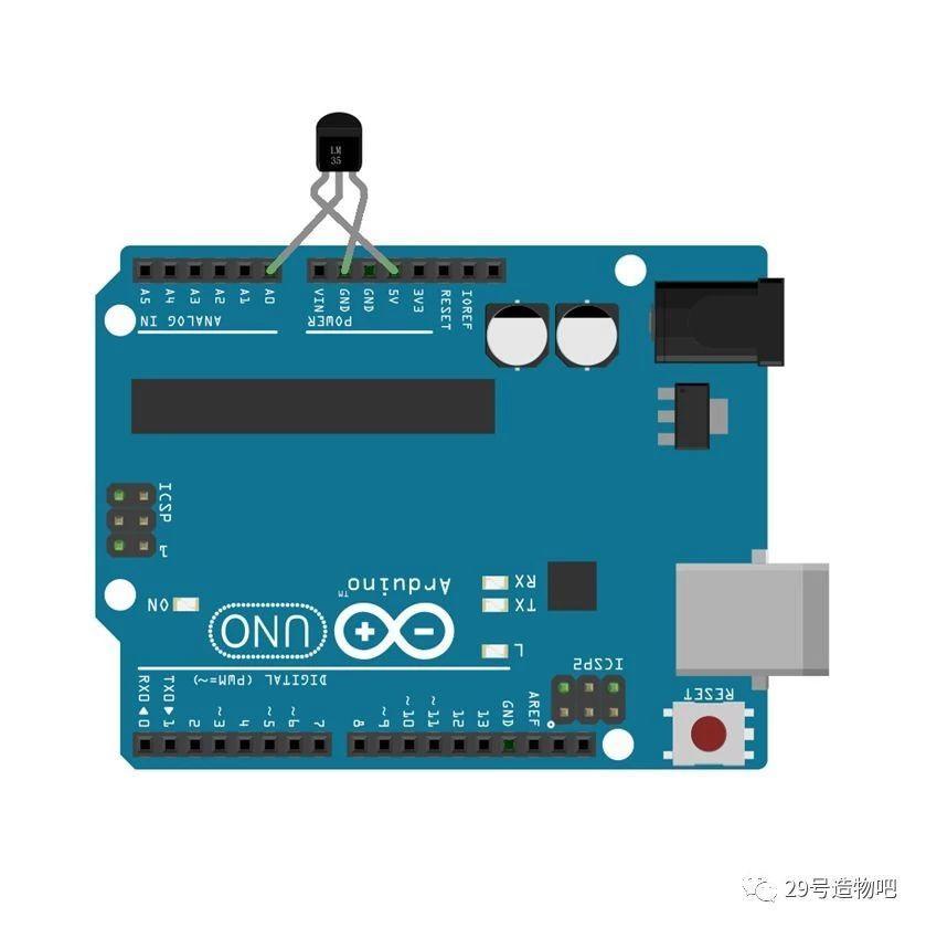 【Arduino教程】第二十八讲:LM35温度传感器实验