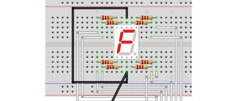 【Arduino编程】第二十三讲:1位数码管模拟值实验