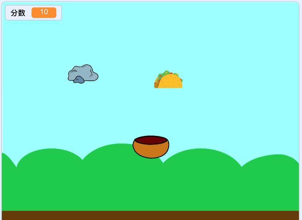 跟我一起学编程—《Scratch3.0编程》第25课:天上掉馅饼