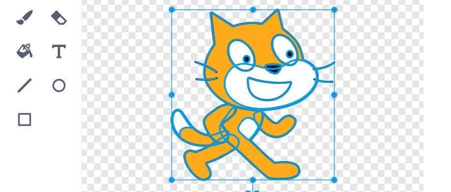 Scratch3.0的造型中心点精确校准方法