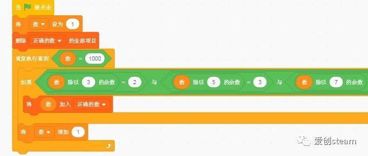【SCRATCH创意编程之五十六集】算法入门物不知数