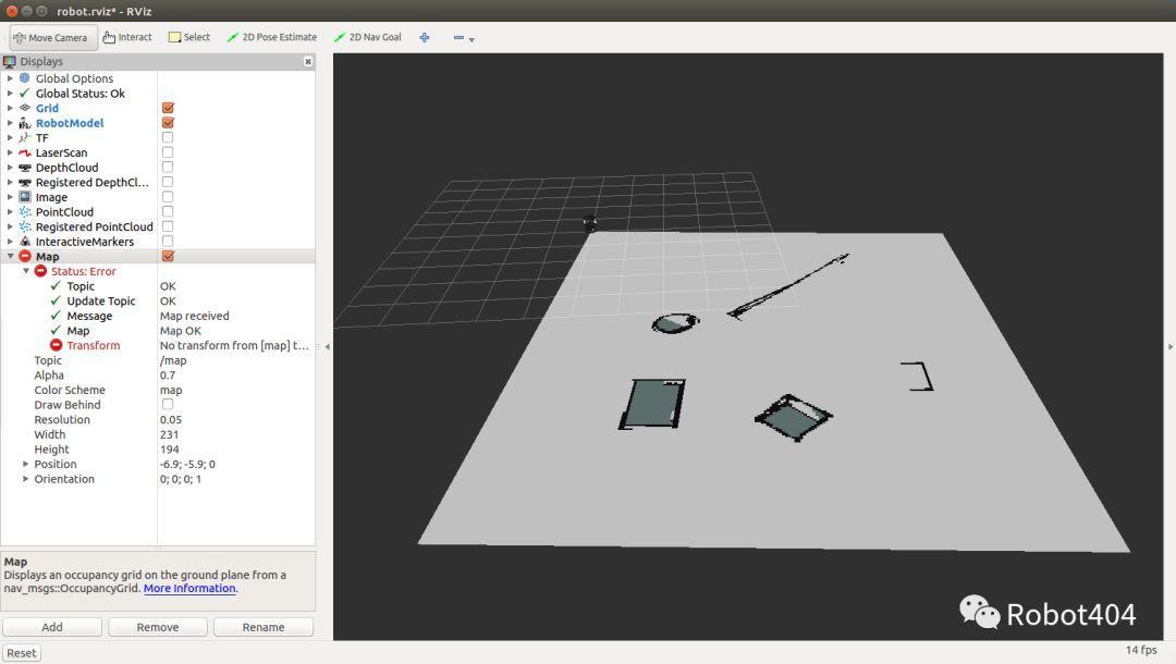 ROS教程——1.5 基于ROS的地图构建