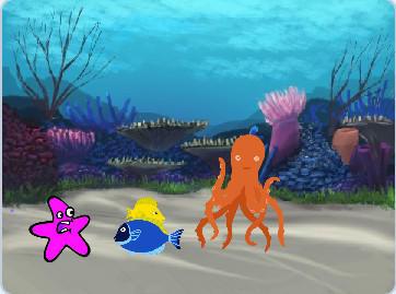 少儿编程|scratch初级游戏--遨游水底世界