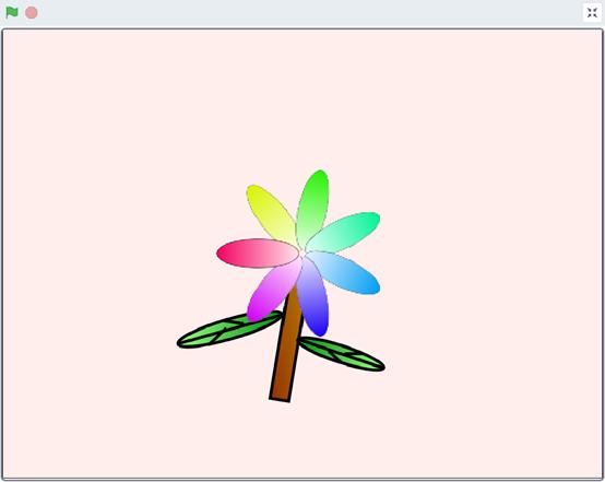 跟我学Scratch编程:绘制七色花(七)