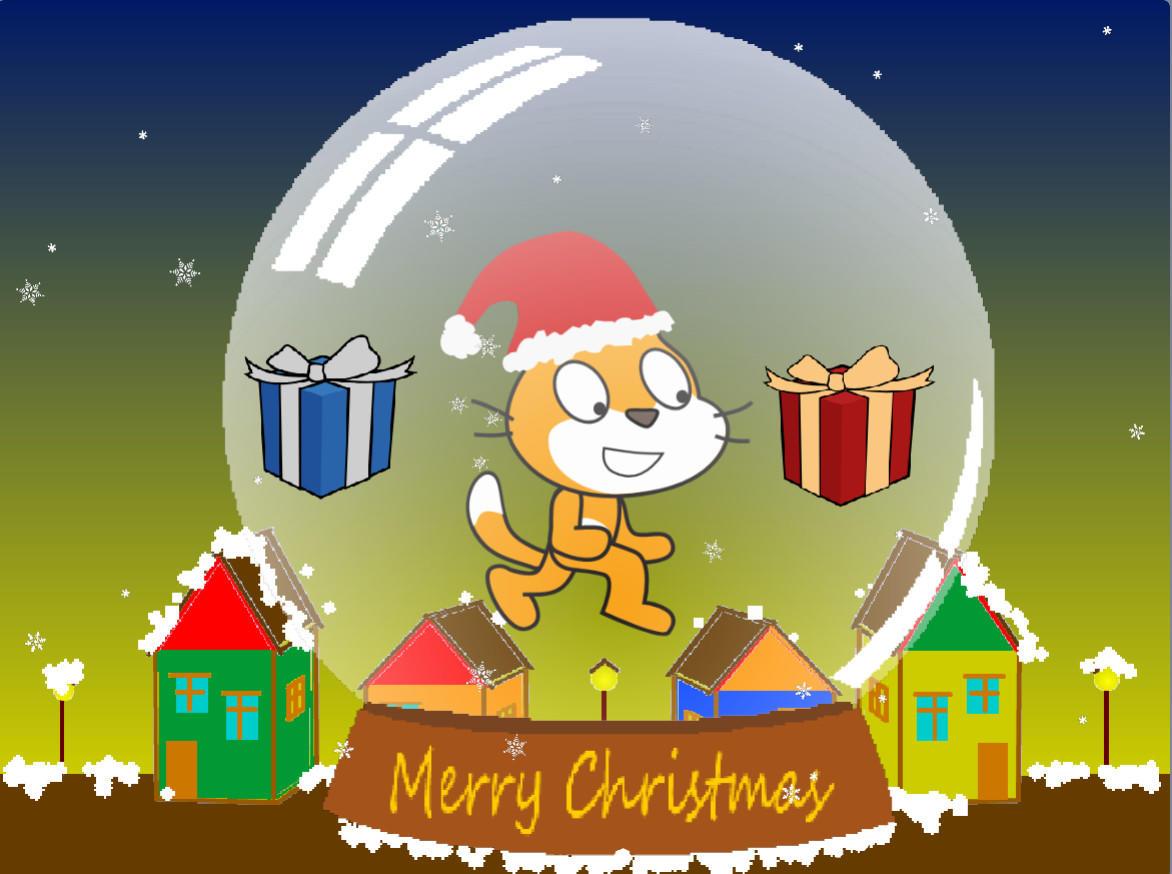 少儿编程|scratch初级游戏--白色圣诞节