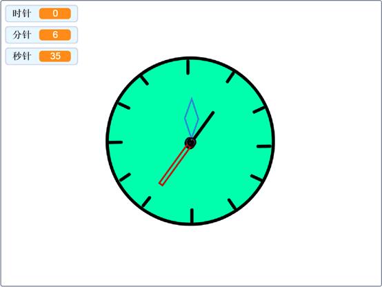 跟我学Scratch编程:漂亮的时钟(九)