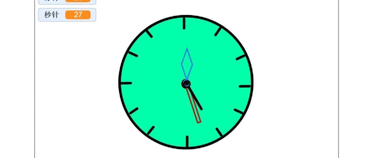 Scratch编程:漂亮的时钟(九)