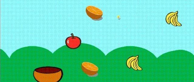 Scratch编程实例-接水果
