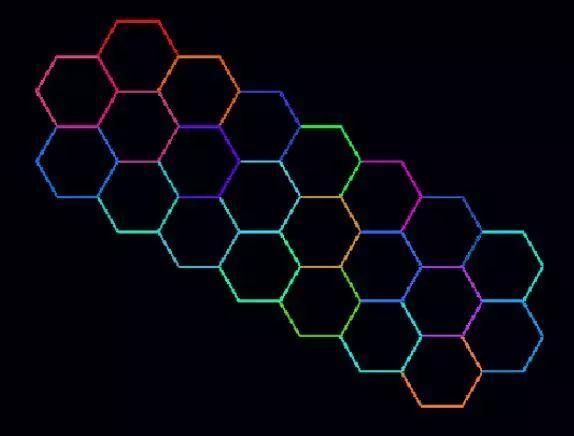 用scratch3.0设计并绘制出美丽的彩色多边形组合