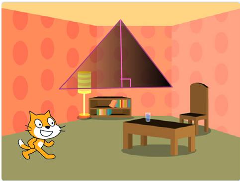 【scratch3.0教程】 4.1 求三角形的面积