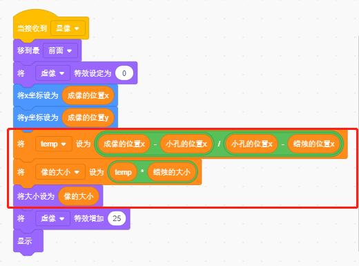 "Scratch编程与物理-用Scratch学习""小孔成像"""