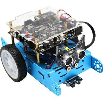 创乐博 cbot儿童编程教育智能机器人 scratch编程套件循迹超声波避障遥控 cbot可编程机器人精简版 经典蓝色