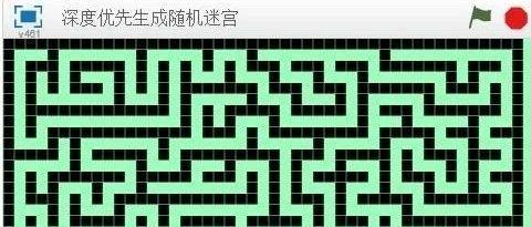 生成随机迷宫(2)--深度优先(递归回溯)算法