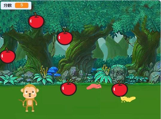 scratch实现猴子接苹果