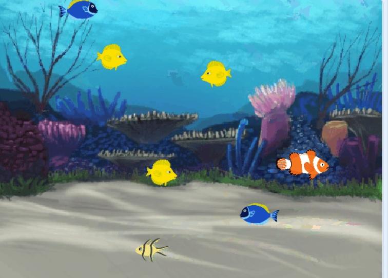 Scratch简单实现大鱼吃小鱼