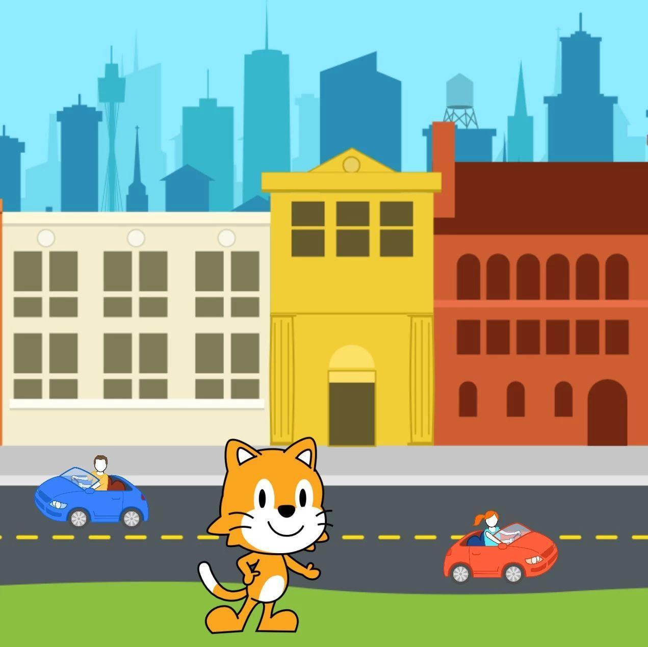 【哈哈!ScratchJr~】3小猫逛街
