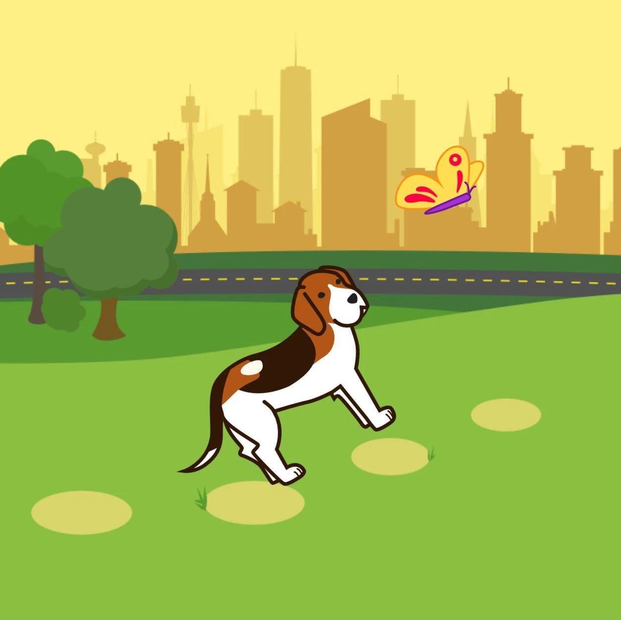 【哈哈!ScratchJr~】4小狗追蝴蝶