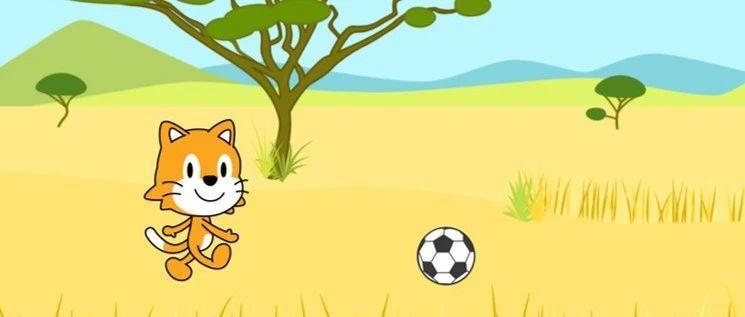 【哈哈!ScratchJr~】5小猫踢足球