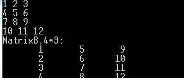 C语言程序经典示例----(9)用二维数组实现矩阵转置