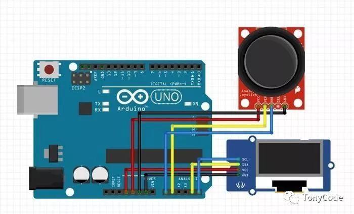Arduino提高篇14—摇杆按键操作OLED
