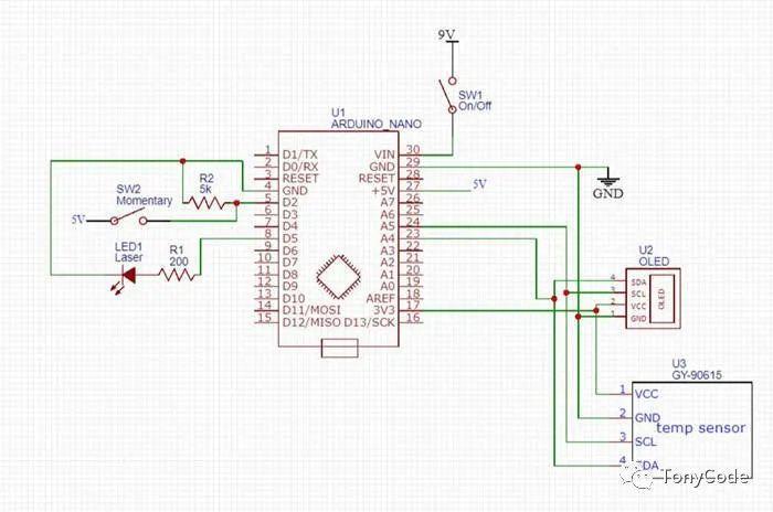 Arduino红外测温仪