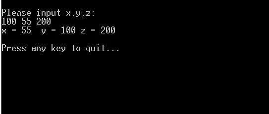 C语言程序经典示例----(18)通过指针比较整数大小