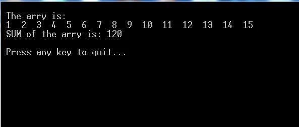 C语言程序经典示例----(16)求数组前n元素之和