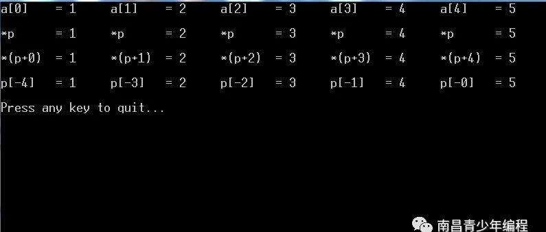 C语言程序经典示例----(19)指向数组的指针